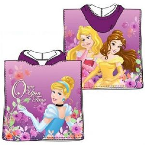 Disney Princess Once Upon A Time Mini Poncho Towel Purple